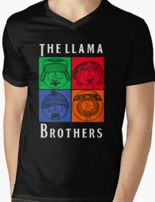 The Llama Brothers Mens V-Neck T-Shirt