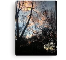 Sunset Office Reflections Canvas Print