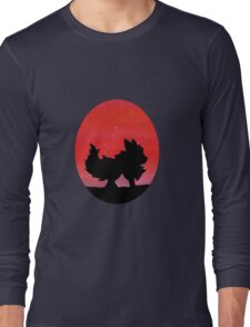 Flareon Sunset Silhouette Pokemon  Long Sleeve T-Shirt