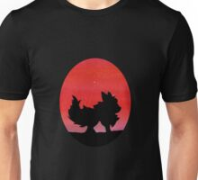 Flareon Sunset Silhouette Pokemon  Unisex T-Shirt