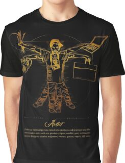 Vitruvian Artist - Gold and Black Series Graphic T-Shirt