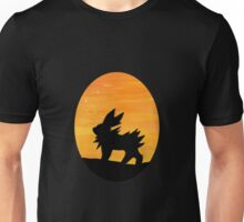 Jolteon Sunset Silhouette Pokemon Unisex T-Shirt