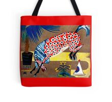 Smiling spotted horse and clown - Amadeo de Souza, Modern Art Tote Bag