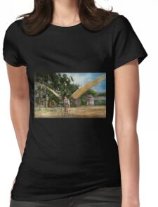 Plane - Odd - The early bird 1910 Womens Fitted T-Shirt