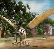 Plane - Odd - The early bird 1910 by Mike  Savad