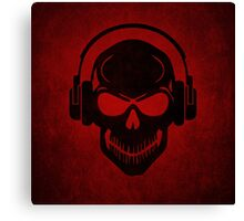 Skull with Headphones - Rave - Electro - Hardstyle Canvas Print