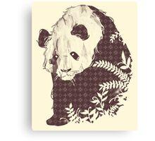 Brand New Panda - Cream Canvas Print