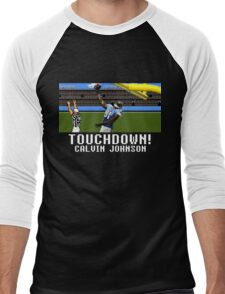 Techmo Bowl Touchdown Calvin Johnson Men's Baseball ¾ T-Shirt