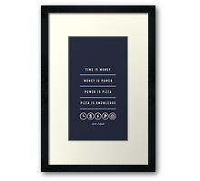 Power Is Pizza- April Ludgate Framed Print