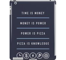 Power Is Pizza- April Ludgate iPad Case/Skin