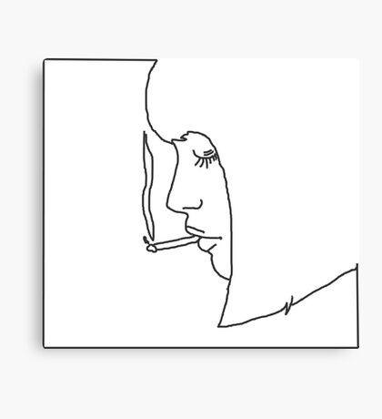 girl smoking a cigarette Canvas Print