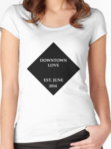 G-Eazy Downtown love Women's Fitted Scoop T-Shirt