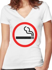 Smoke Up Women's Fitted V-Neck T-Shirt