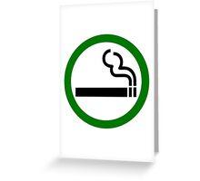 Smoke Up Greeting Card