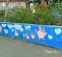 The Flying Pig Fence by Penny Smith