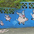 The Flying Pig Fence # 2 by Penny Smith