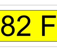 Jeremy Clarkson Falklands number plate Sticker