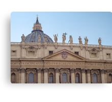 Rome - St Peter Basilica Canvas Print