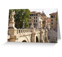 Rome - Ponte Sant Angelo Greeting Card