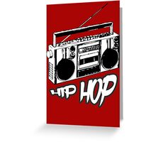 boombox hip hop rap urban graffiti breakdance dj 90s stereo retro Greeting Card