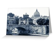 A look at history - St. Peter's Basilica Greeting Card