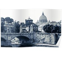 A look at history - St. Peter's Basilica Poster