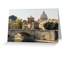 Sunny day in Rome  Greeting Card