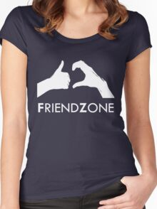 Friendzone (white text) Women's Fitted Scoop T-Shirt