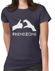 Friendzone (white text) Womens Fitted T-Shirt