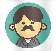 Mini Characters - Hipster Mustache Man Poster