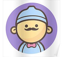 Mini Characters - Beanie Hipster Poster