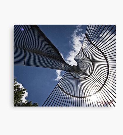 Metal Sculpture in Canberra/ACT/Australia Canvas Print