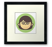 Mini Characters - Glasses Girl Framed Print