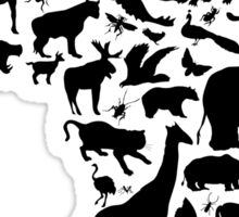 Animals of Africa Sticker