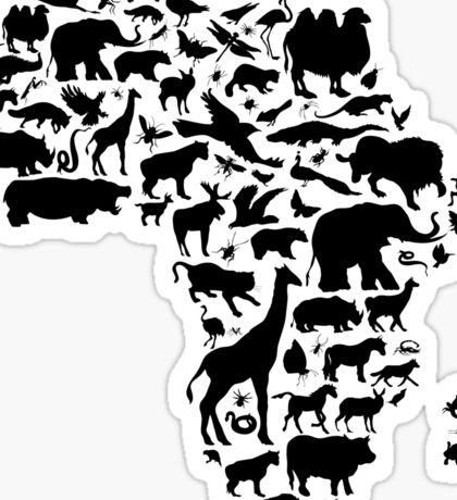 Animals of Africa Sticker