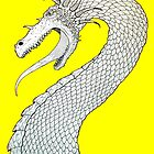 White Dragon on Yellow by slshuttleworth