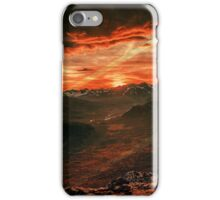 Red MountainScape iPhone Case/Skin