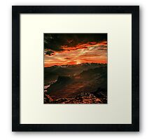 Red MountainScape Framed Print