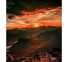 Red MountainScape Photographic Print