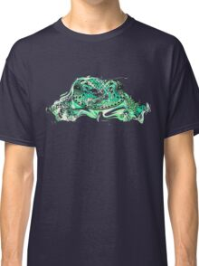 Zentangle stylized frog with abstract  colorful grunge background Classic T-Shirt