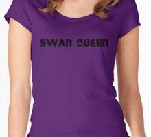 ALL ✩ SWEN (black) Women's Fitted Scoop T-Shirt