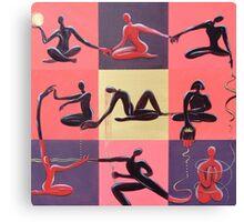 Yoga Positions Canvas Print