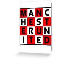 Manchester United red white and black Greeting Card