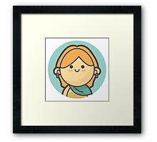 Mini Characters - Blonde Girl Framed Print