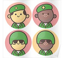 Mini Characters - Army Men Poster
