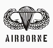 US airborne parawings - black One Piece - Short Sleeve