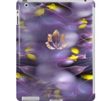 Floating Lotus in violet and yellow iPad Case/Skin