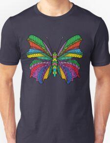 Beautifull zentangle stylized butterfly Unisex T-Shirt