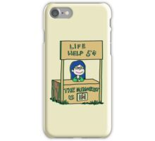 Life helper - vintage version iPhone Case/Skin