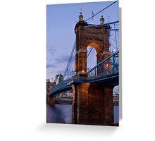 John A Roebling Bridge 1867 Greeting Card